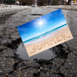 summer in a pot hole