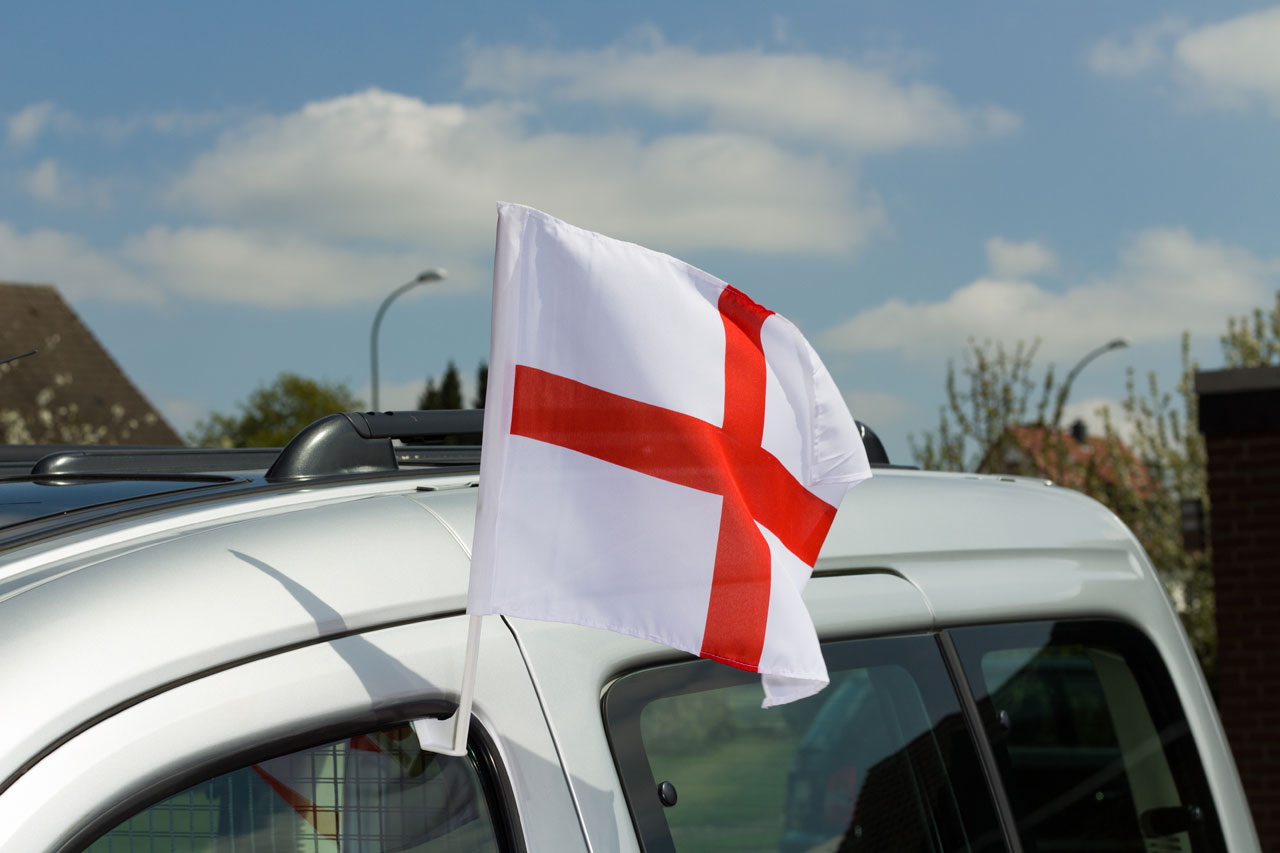 This flag indicates normal mentality, but poor driving ability. They generally meet up together in local pubs during football matches to try and self improve driving skills.